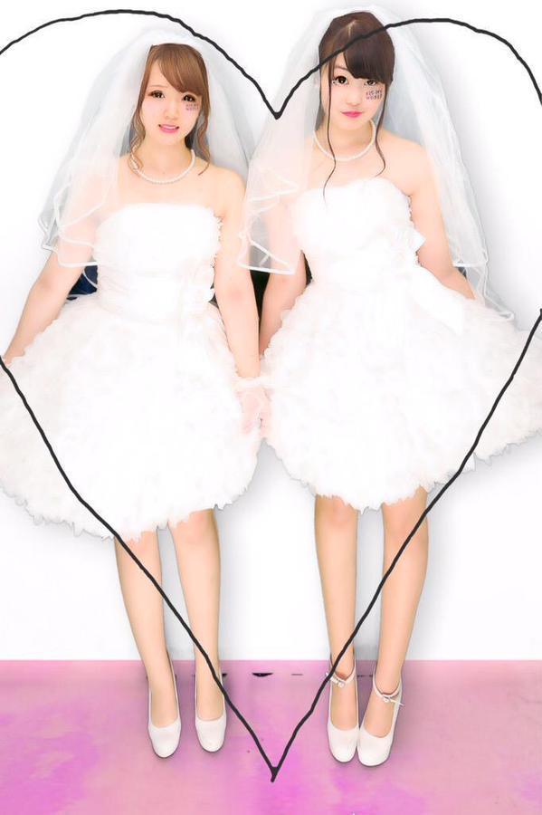 出典:https//twitter.com/ こちらは、ウエディングドレスを着て参戦した方です。